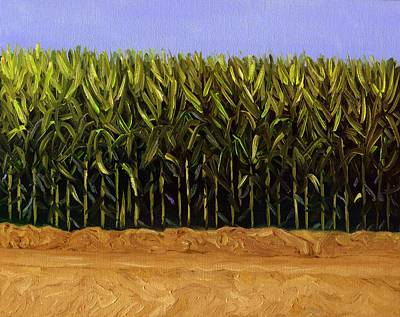 Indiana Landscapes Painting - The Cornfield by Karyn Robinson