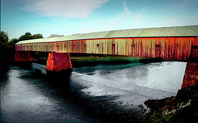Digital Art - The Cornish-windsor Covered Bridge  by Rusty R Smith
