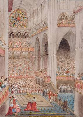 Westminster Abbey Painting - The Coronation Of Queen Victoria by MotionAge Designs