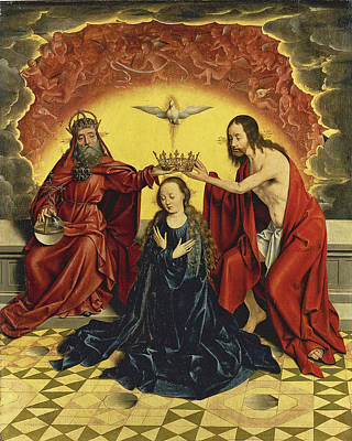 Painting - The Coronation Of The Virgin by Barthel Bruyn the Elder