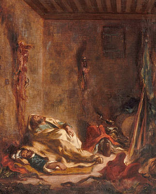 Painting - The Corps De Garde In Meknes by Eugene Delacroix