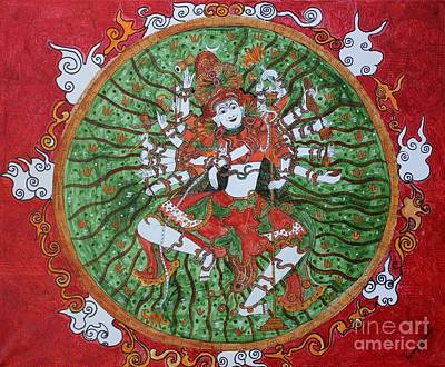 Painting - The Cosmic Dancer by Saranya Haridasan