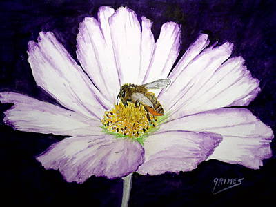 Painting - The Cosmo And The Bee by Carol Grimes