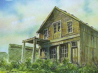 Painting - The Cosmopolitan Belmont Ghost Town Nevada by Kevin Heaney