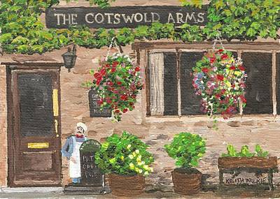 Brittish Painting - The Cotswold Arms by Keith Wilkie