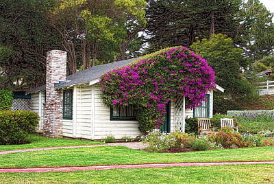 Photograph - The Honeymoon Cottage At Mission Ranch by Glenn McCarthy