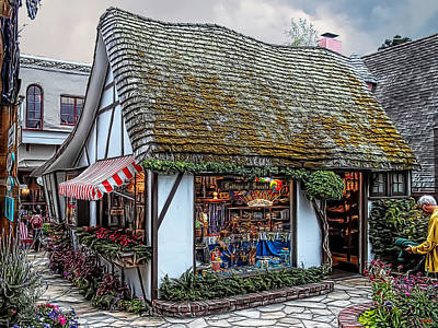 Old Home Place Digital Art - The Cottage Of Sweets - Carmel by Glenn McCarthy