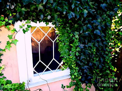 Digital Art - The Cottage Window by Ed Weidman