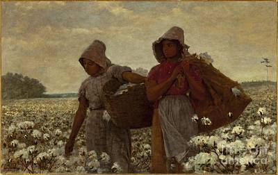 The Cotton Field Painting - The Cotton Pickers by MotionAge Designs