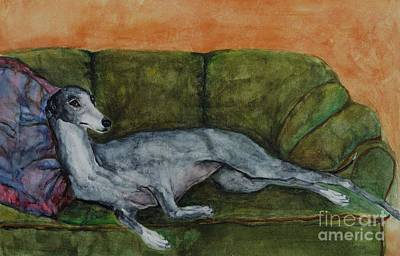 Greyhound Painting - The Couch Potatoe by Frances Marino