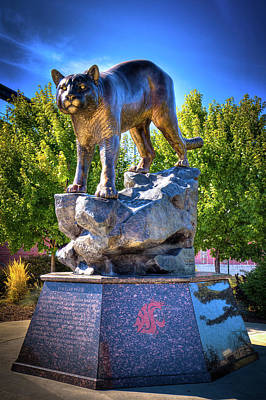 Photograph - The Cougar Pride Sculpture by David Patterson
