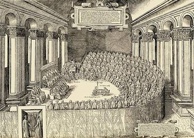 Ecumenical Drawing - The Council Of Trent, 1563. The by Vintage Design Pics