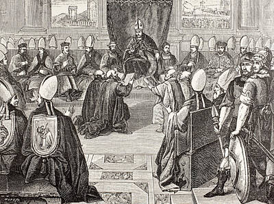 Ecumenical Drawing - The Council Of Vienne, Fifteenth by Vintage Design Pics