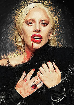 Lady Gaga Art Digital Art - The Countess - American Horror Story by Taylan Apukovska