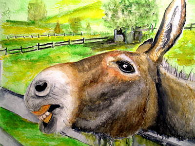 Painting - The Country Mule by Carol Grimes