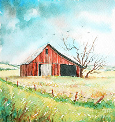 Painting - The Country Way No.2 by Rebecca Davis
