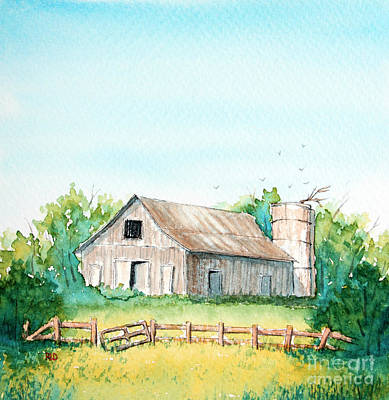 Painting - The Country Way by Rebecca Davis