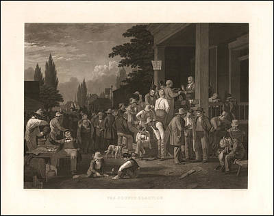 The County Election Art Print by George Caleb Bingham