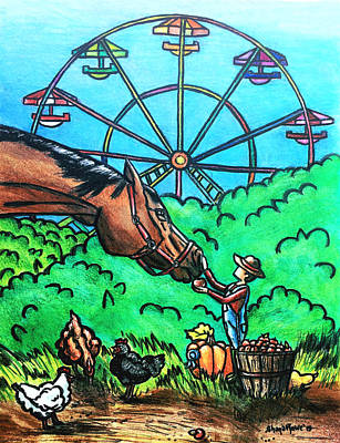 Drawing - The County Fair by Shana Rowe Jackson