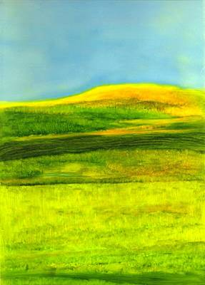 Maine Meadow Painting - The County Maine by FeatherStone Studio Julie A Miller