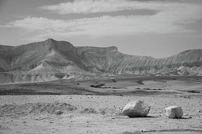 the couple of stones in the desert II Art Print by Yoel Koskas
