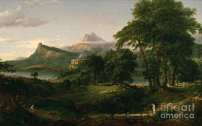 Painting - The Course Of Empire The Arcadian Or Pastoral State by Cole Thomas