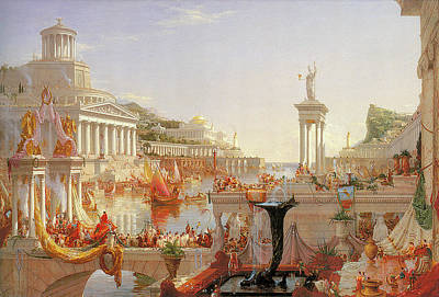 Photograph - The Course Of Empire The Consummation Of Empire by Thomas Cole