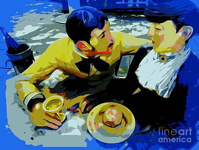 Digital Art - The Courtship by Ed Weidman