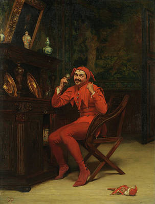 Chicken Portrait Wall Art - Painting - The Court Jester by Claude Andrew Calthrop