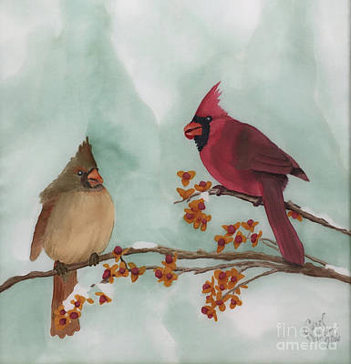 Wall Art - Painting - The Courtship by Carol P Sullivan