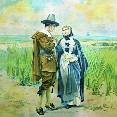 Painting - The Courtship Of Miles Standish by Alfred Fredericks