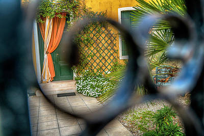 Photograph - The Courtyard Burano Italy_dsc5069_03032017 by Greg Kluempers