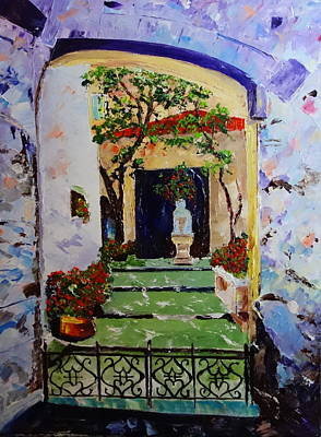 Painting - The Courtyard by Valerie Curtiss