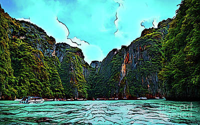 Photograph - The Cove 17718 by Ray Shrewsberry