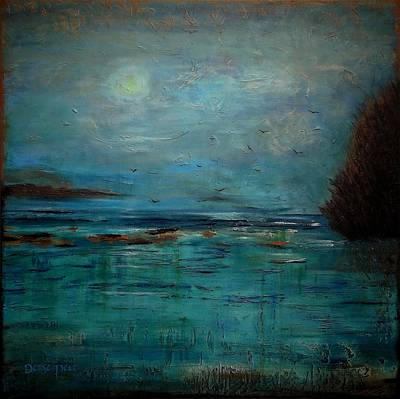 Rocks. Tidal Pool Painting - The Cove by Denise Peat