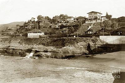 Photograph - The Cove La Jolla, California Circa 1910 by California Views Mr Pat Hathaway Archives