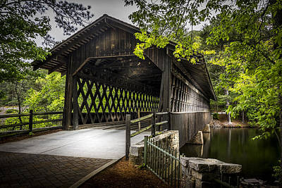 Covered Bridge Photograph - The Coverd Bridge by Marvin Spates