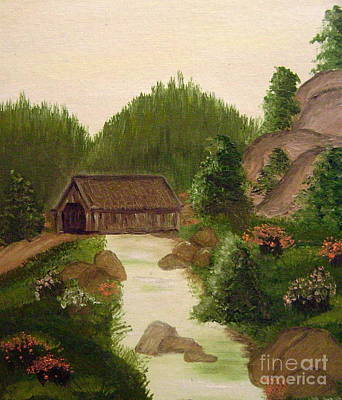 The Covered Bridge Art Print by Kim Walker