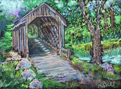 Covered Bridge Painting - The Covered Bridge by Madonna Siles