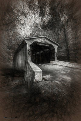 The Covered Bridge Art Print by Marvin Spates