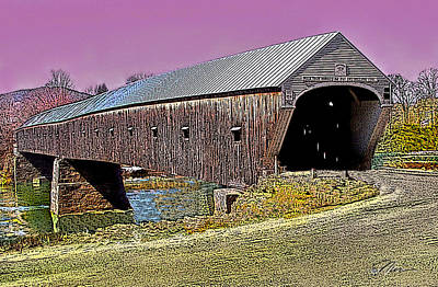 Photograph - The Covered Bridge by Nancy Griswold