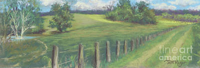 The Cow Path To The Pond Art Print by Terri  Meyer