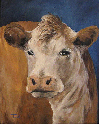 Bovine Animals Painting - The Cow by Torrie Smiley