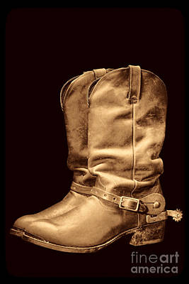 Photograph - The Cowboy Boots by American West Legend By Olivier Le Queinec