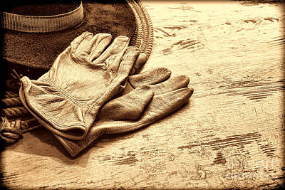 The Cowboy Gloves Art Print