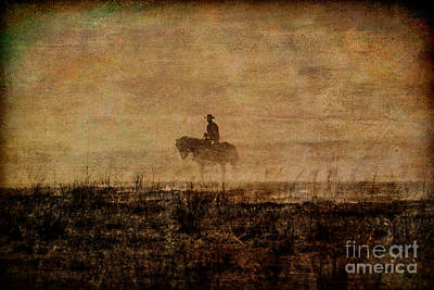 Cattle Drive Photograph - The Cowboy by Lynn Sprowl