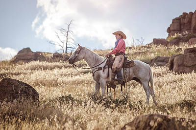 Photograph - The Cowgirl by Fast Horse Photography