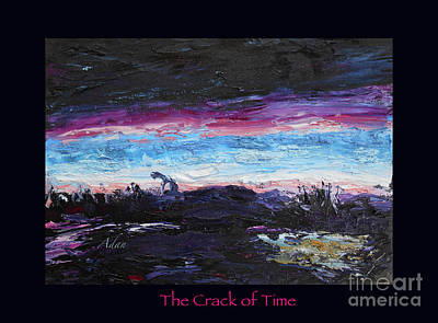 Photograph - The Crack Of Time Poster by Felipe Adan Lerma