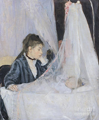 Cribs Painting - The Cradle by Berthe Morisot