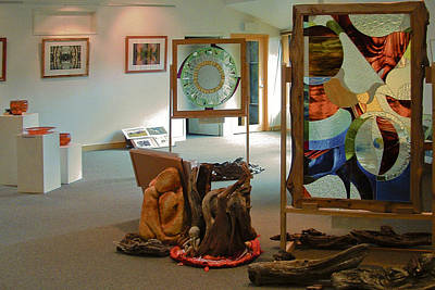 Instillation Glass Art - The Cradle Mountain Information Center Gallery by Sarah King